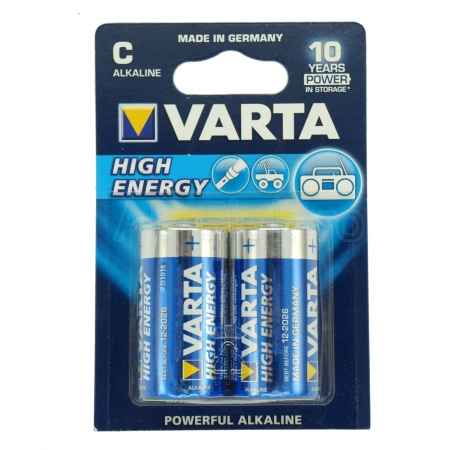 Varta High Energy Baby C Batterie 4914 LR14, 2er Blister